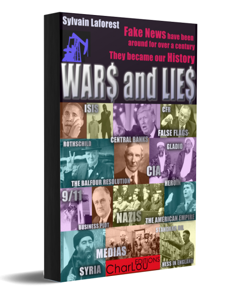 WARS and LIES Book and Ebook of CharLou Editions, written by Sylvain Laforest